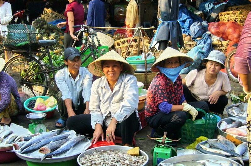 vendedoras en la calle