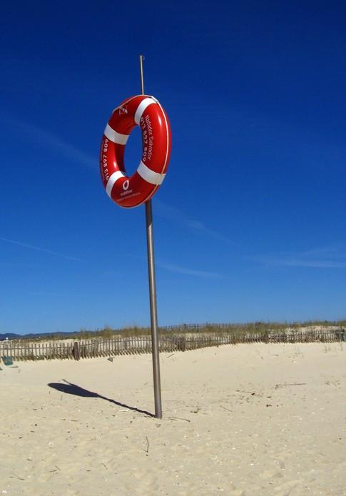 publicidad en playa