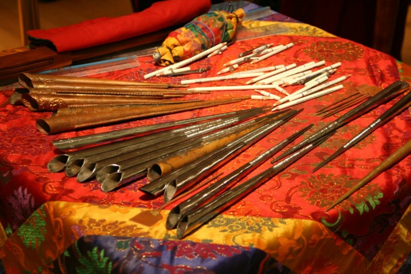 Tools used for the Sand Art