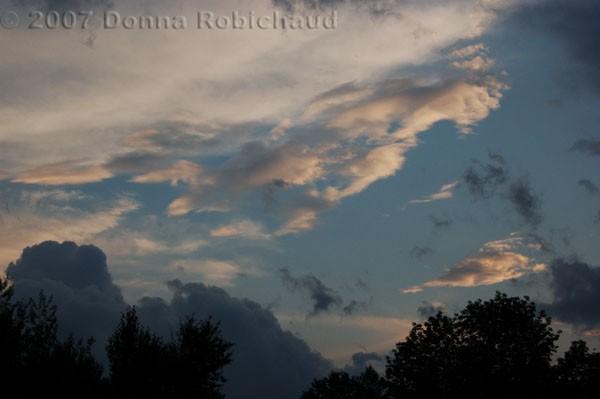 Cloudy sky at dusk