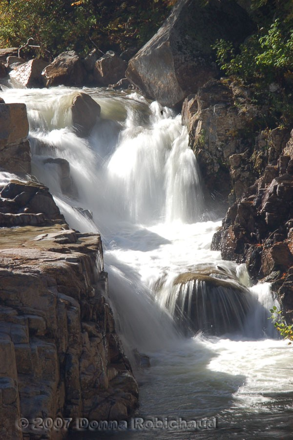 waterfall at rocky gorge new hampshire