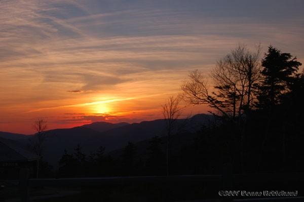 sunset Kangamangus Highway new Hampshire