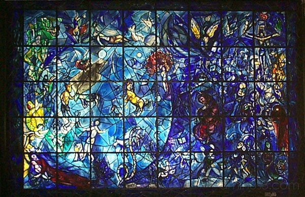 stained glass at United Nations in New York