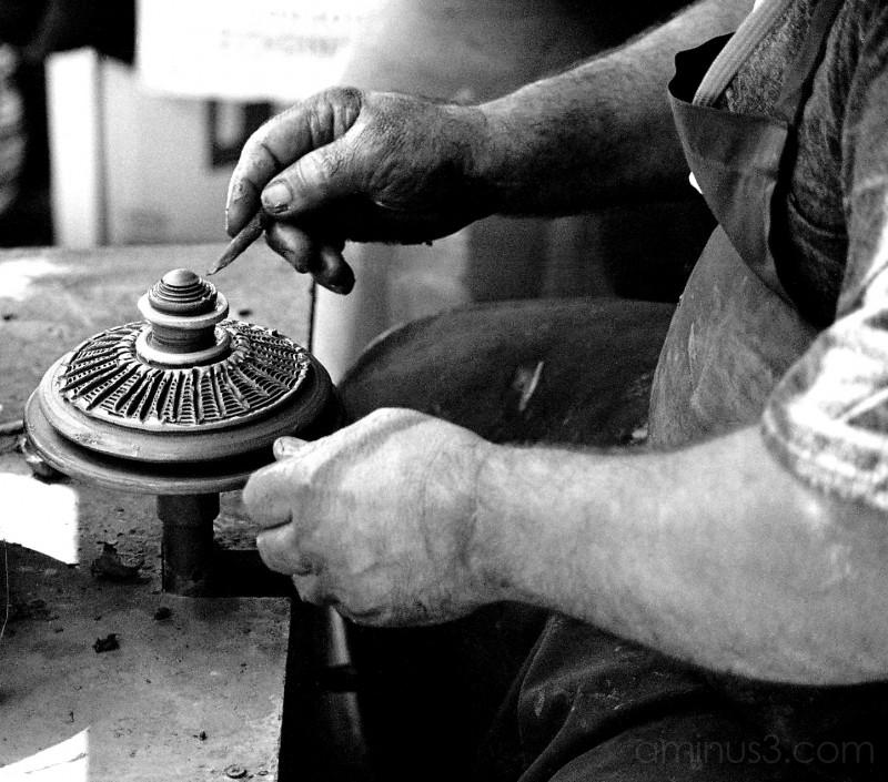 Potter at craft fair, Istanbul