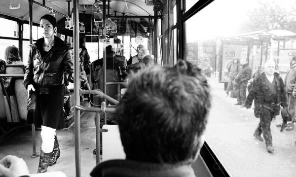 On a bus in Istanbul