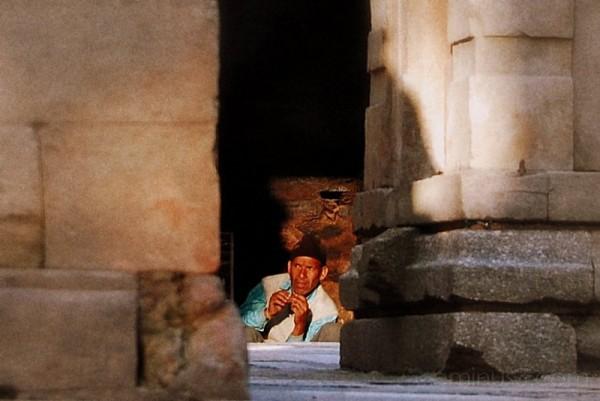 crouching monk