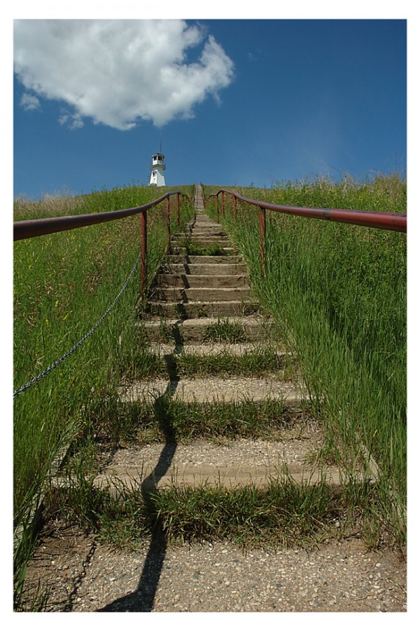 Stairway to Cochin Lighthouse