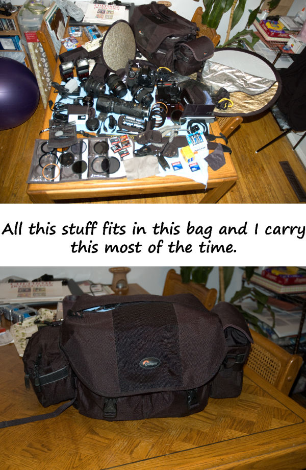 Inventory - Stuffed into one bag