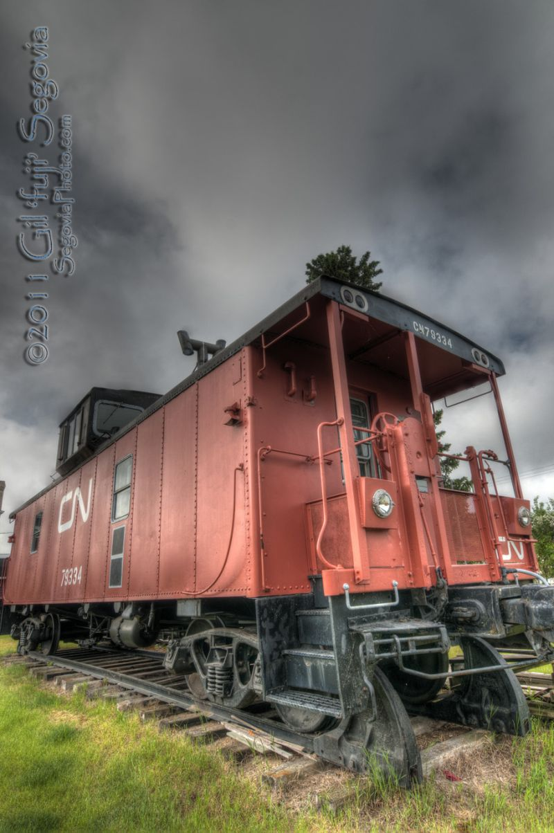 The Caboose in Glaslyn, SK