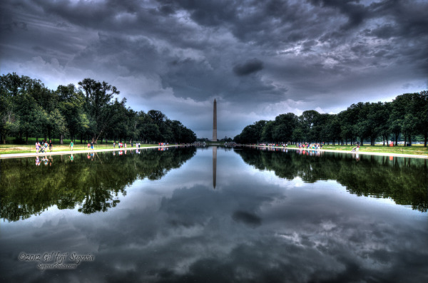 Reflections of a monument