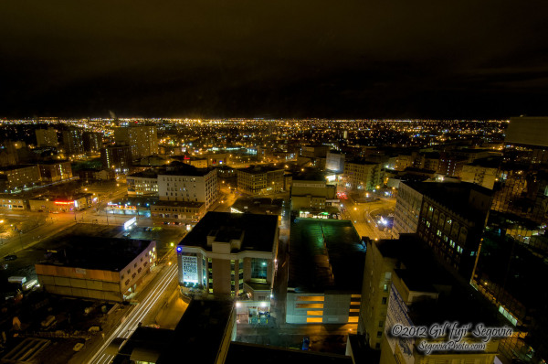 23rd floor view of downtown Winnipeg