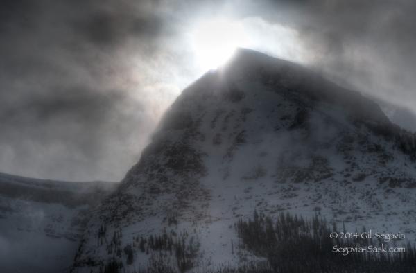 Shine behind the Peak