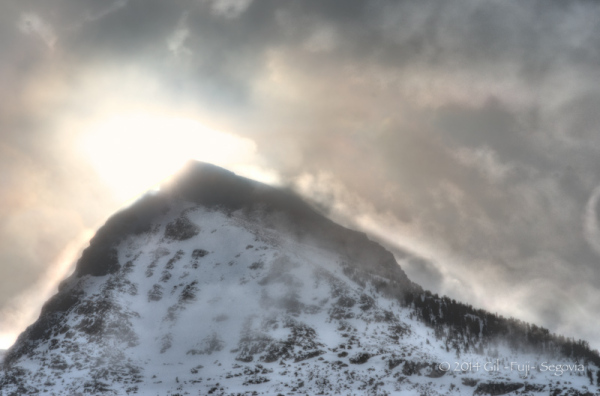 Mountain in silhouette