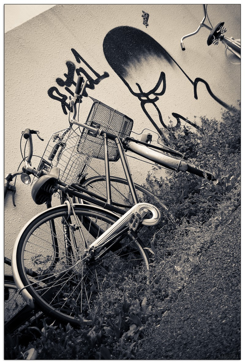 Bicycles 'n' Mr. Angry Wall