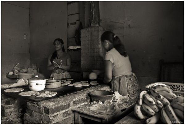 Women Making Tortillas