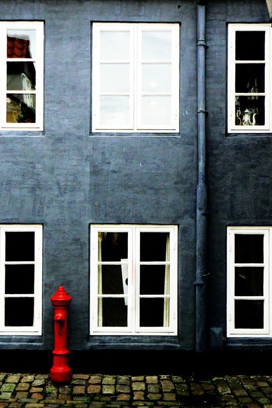 blue house in ålborg north jutland denmark