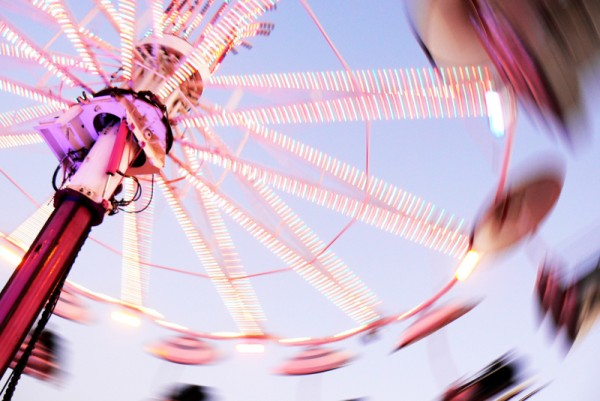 funfair attraction in normandy