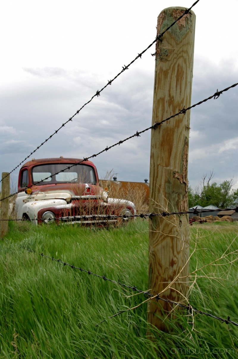 Tumbleweed, Fencepost, and Truck