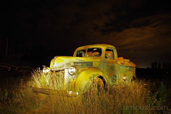 Light Painted Truck