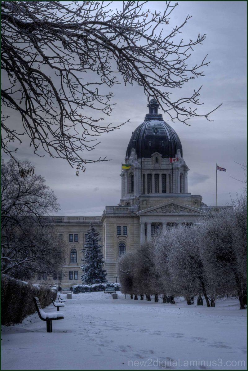 Snow at the Leg. (Legislature) 1/2