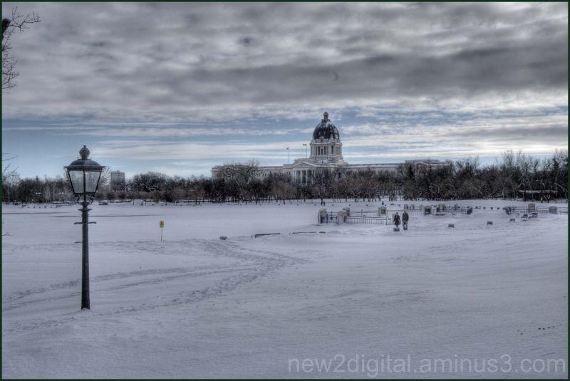 Urban Winter Wonderland Horizon View