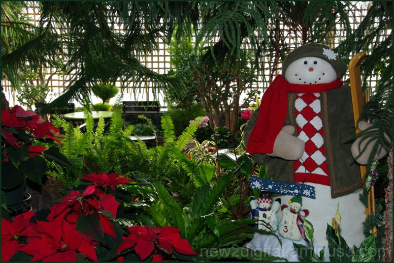 Floral Conservatory Snowman