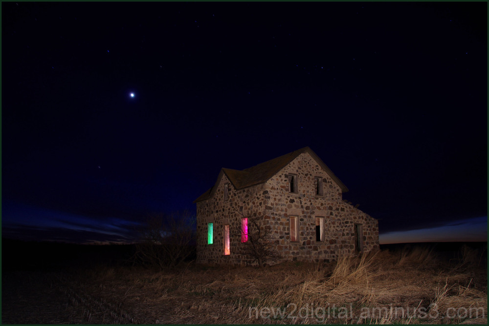 Stone House Painted with Light