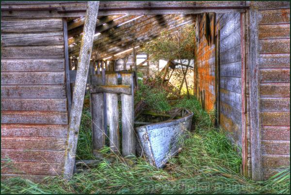 Boat in a Barn 1/2