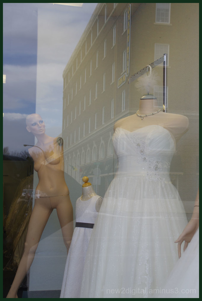 Window Shopping at the Bridal Boutique