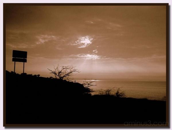 Cloudy Sunrise in Maui, Hawaii