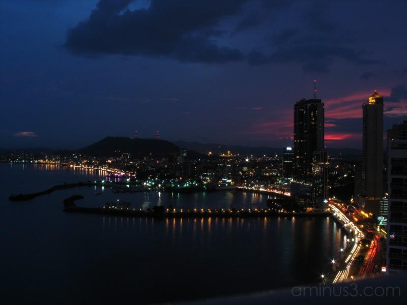 Panama city balboa bay view down