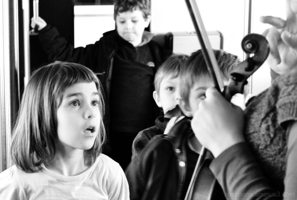 Music Lesson in the Train