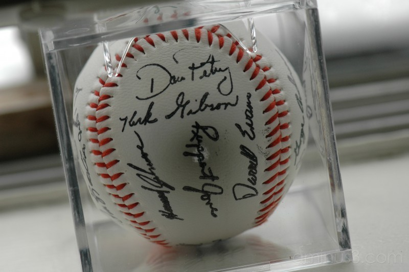 1984 Autographed Detroit Tigers Baseball