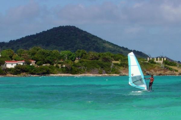 windsurfing at sapphire bay