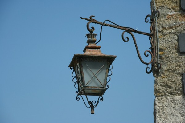 lamp iron work