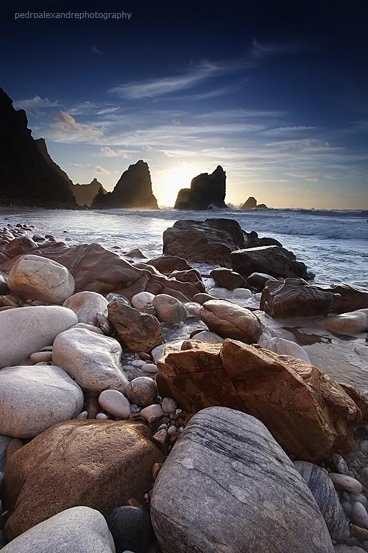 the light on the rocks