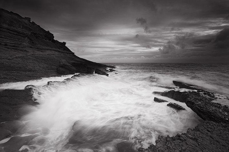 in black & white