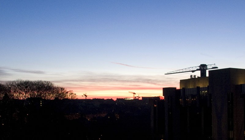 Sunrise over Luxembourg
