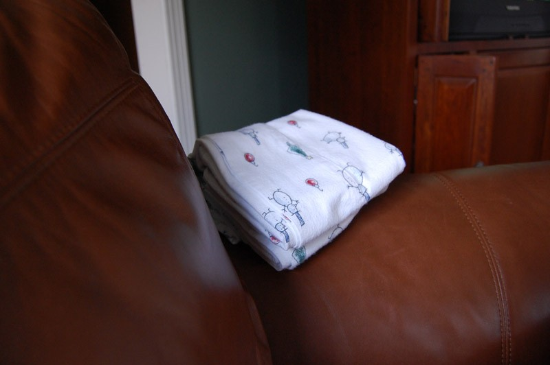 sheets on a chair