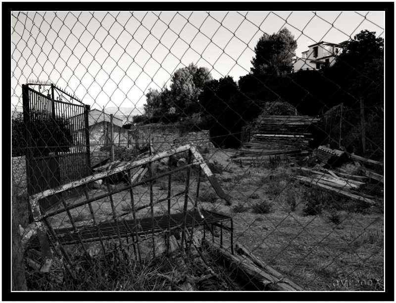 Tras la alambrada  /  Behind the wire fence