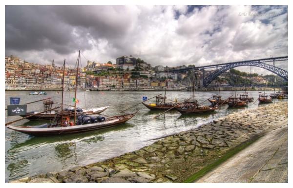 Porto Portugal S.Luiz Oporto Wine Boats