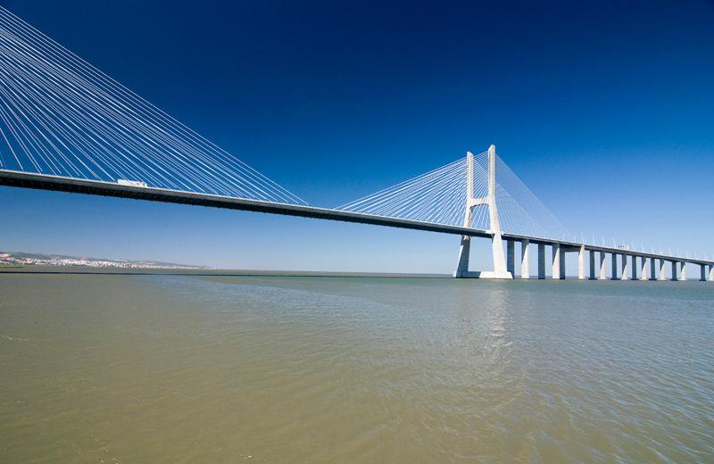 Vasco Gama Portugal Bridge Lisbon Lisboa Tejo Rive