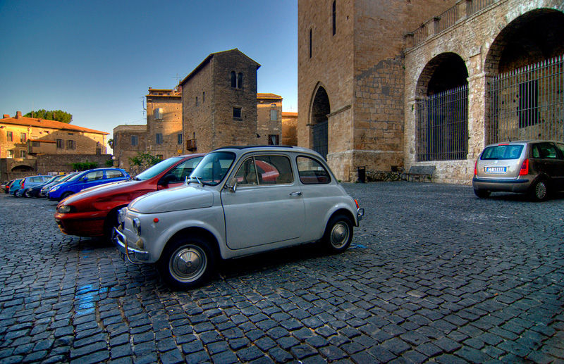 Anagni Italy Village Medieval Fiat 500