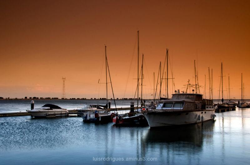 Vila Franca de Xira, Portugal, Boats, Sunset