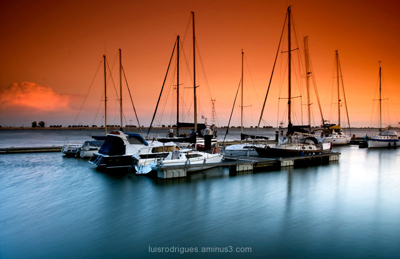 Vila Franca de Xira, Portugal, Boats, Sunset