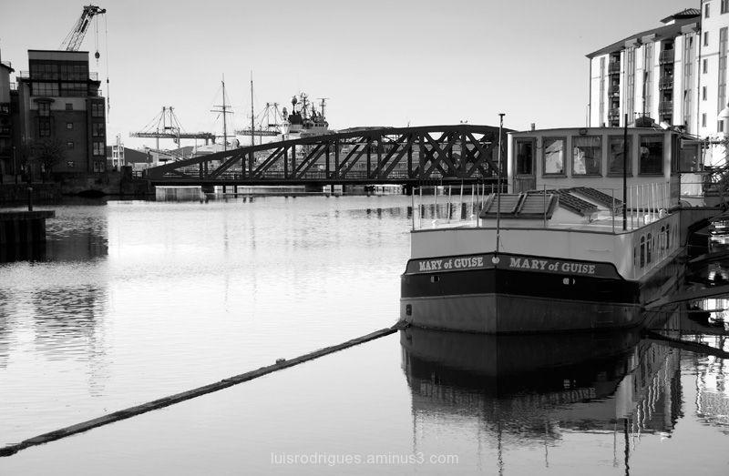 Scotland, Edinburgh, Leith. Mary of Guise barge