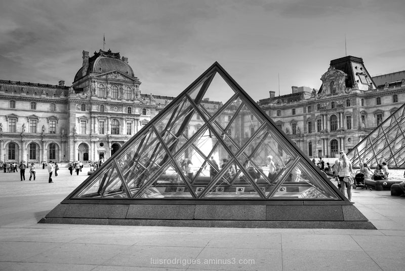 Louvre Paris France Museum Pyramid