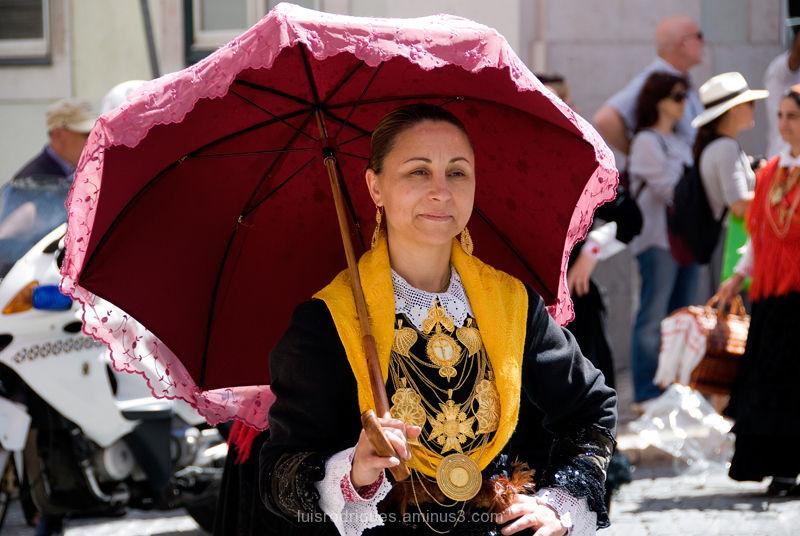 Portuguese traditional costumes Lisbon Portugal