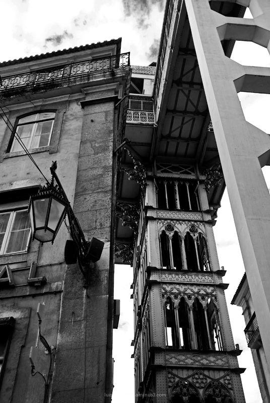 Santa Justa Lift Elevador Lisbon Portugal