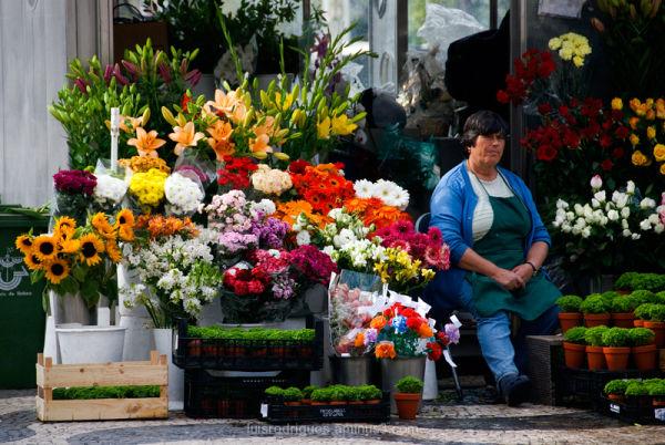 People Flowers Portugal Lisbon